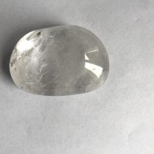 Cristal de roche galet ovale 7cm