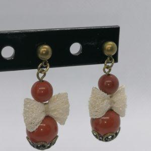 Boucles d'oreilles (Pierres Jaspe rouge)