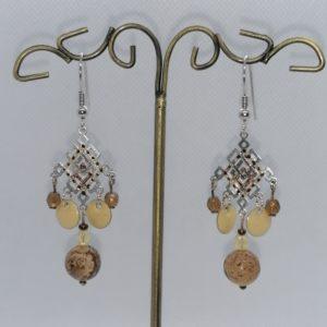 Boucles d'oreilles (Pierres Jaspe)